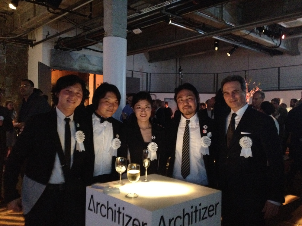 With colleagues from Japan at A+ Awards
