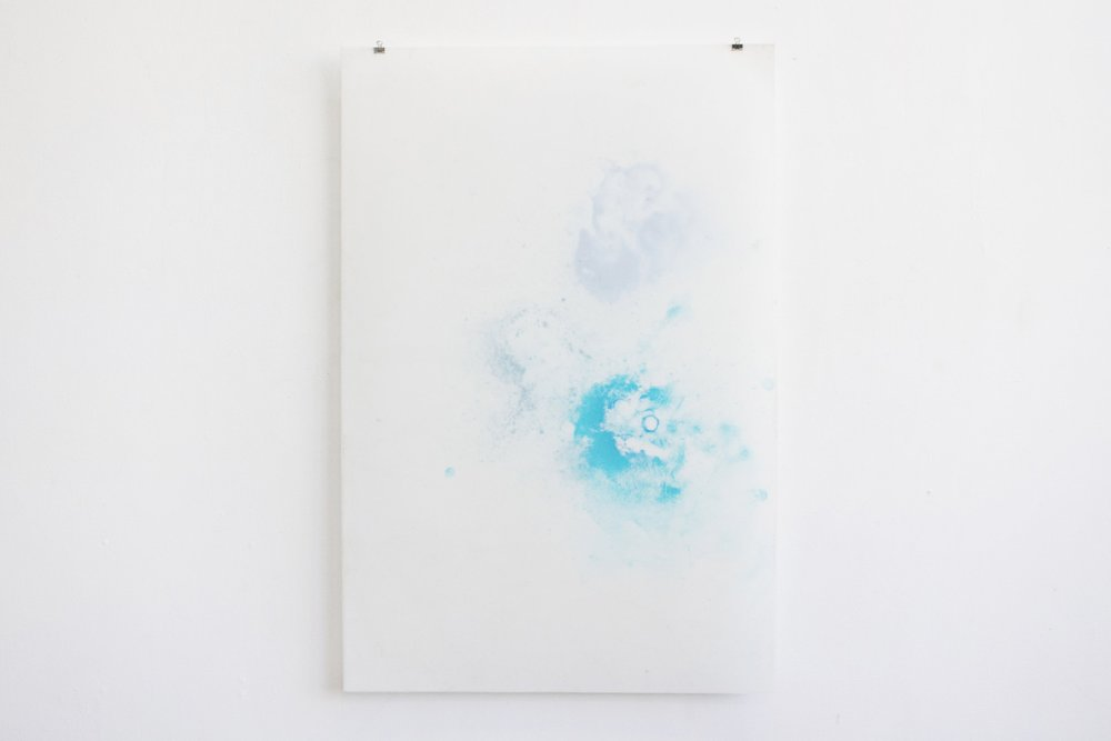 untitled (melt),  ice (watercolor) on yupo paper, each 35x23in,  $175*