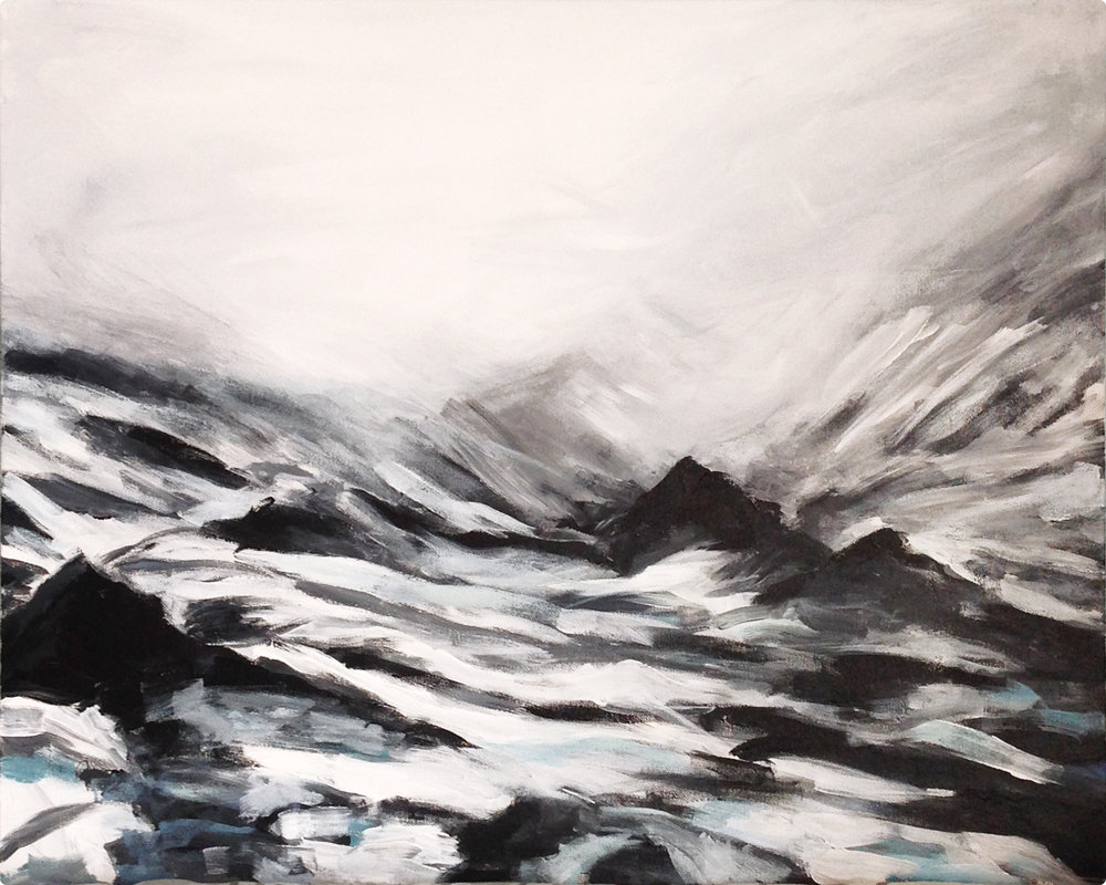 Passage #2 (Iceland),  acrylic on canvas, 30x24in,  $150