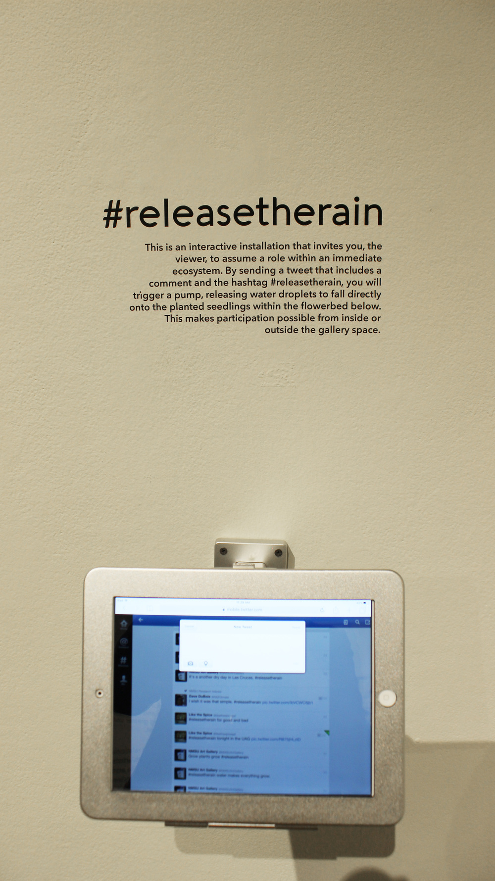 Relational Sustainability (detail of tweeting station)