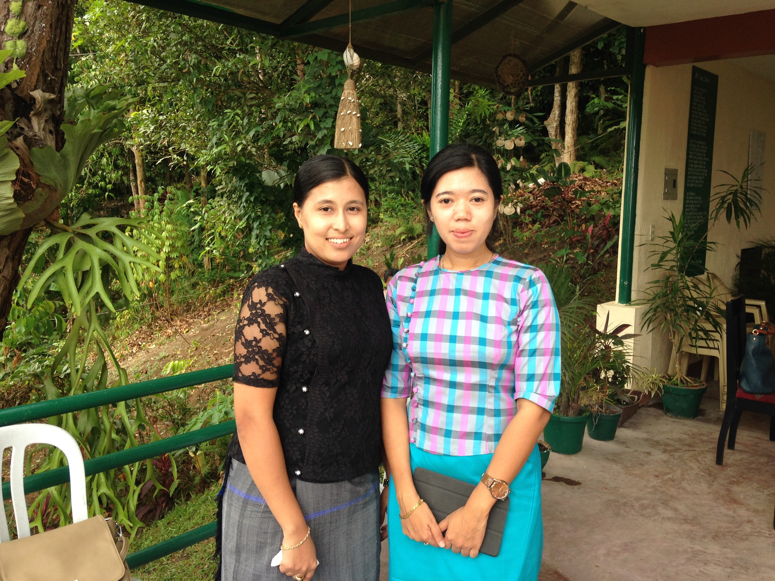 Observers from Myanmar, Daw Thazin Oo and Daw Thiri Soe of Dagon University, who are interested in starting a similar writers' workshop at their university.
