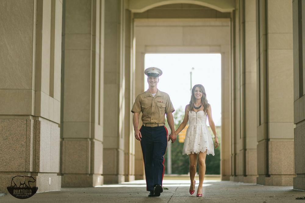 marine-walking-with fiance-hall
