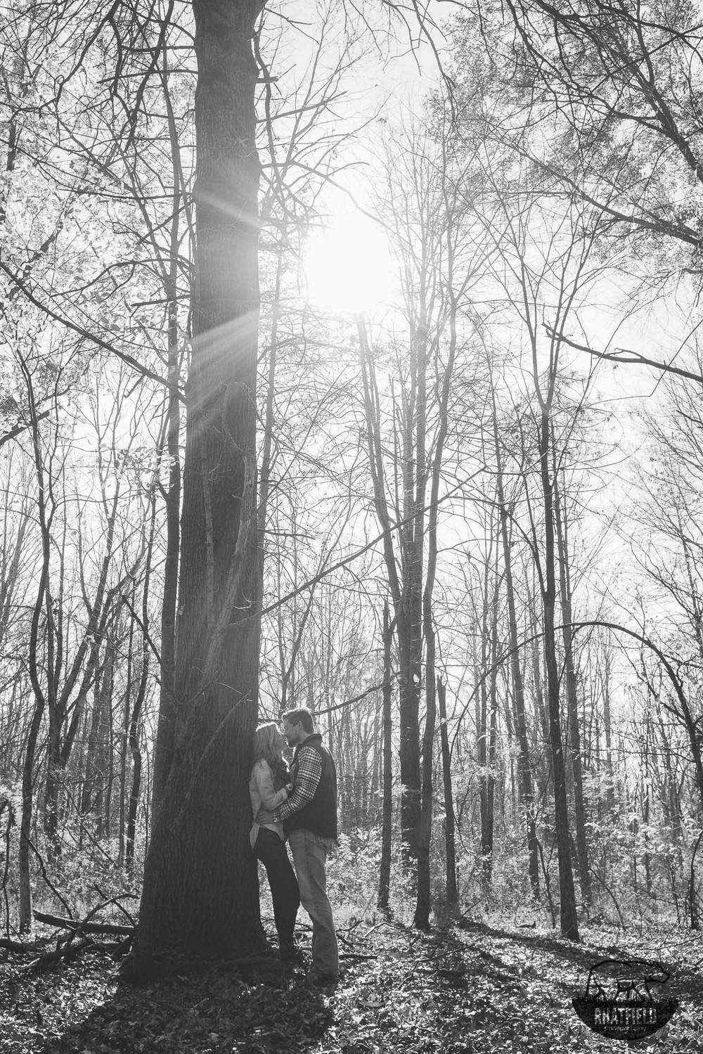 black-white-tree-kiss-woods