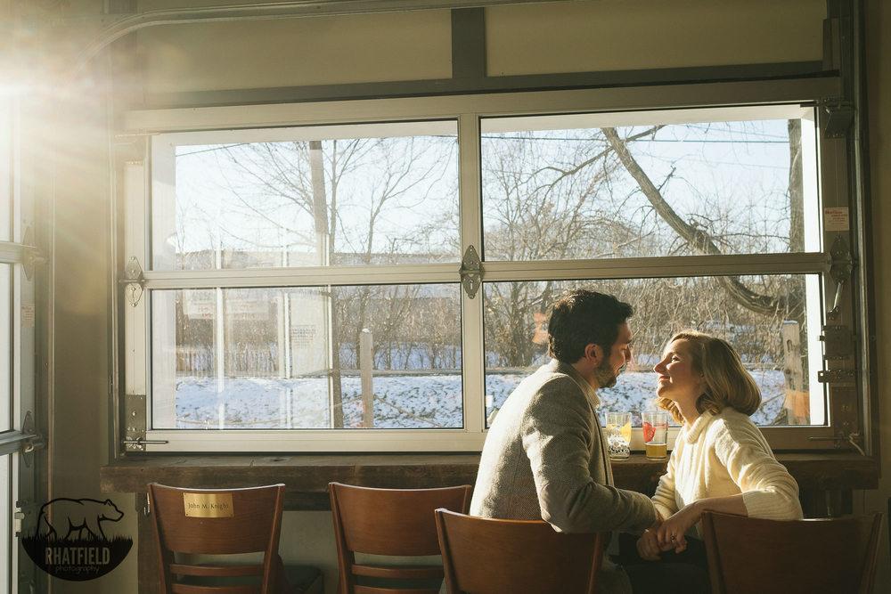 Allison and Austin Paint War EngagementsAnderson Indiana www.RHatfieldPhotography.com