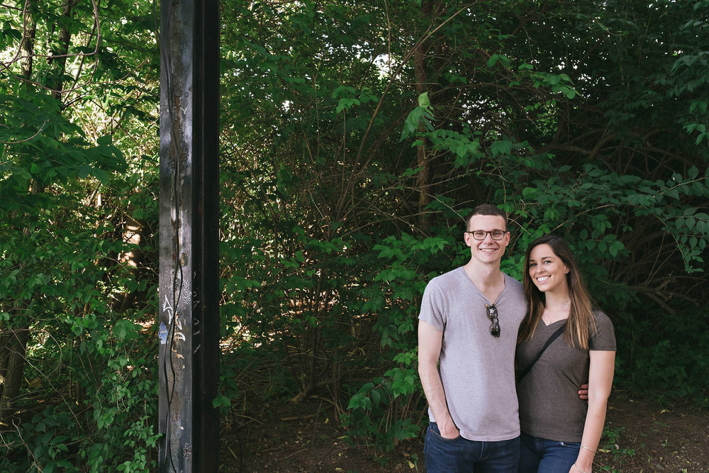 smiling-couple-monon-trail-engagement