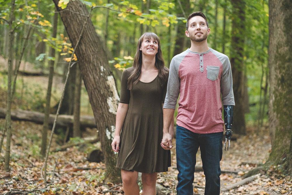 Charlotte & Dan Eagle Creek State Park Engagements  - www.RHatfieldPhotography.com