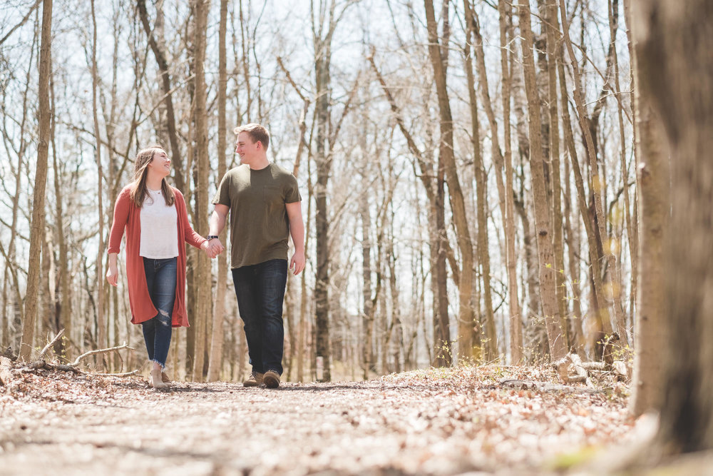 Kathrine and Thadd's Eagle Creek State Park Engagement Session - www.RHatfieldPhotography.com
