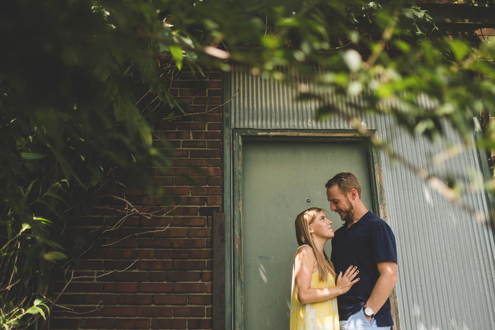 Katy & Aaron's Midland Arts & Antiques Market Engagement Photos Indianapolis Indiana - www.RHatfieldPhotography.com