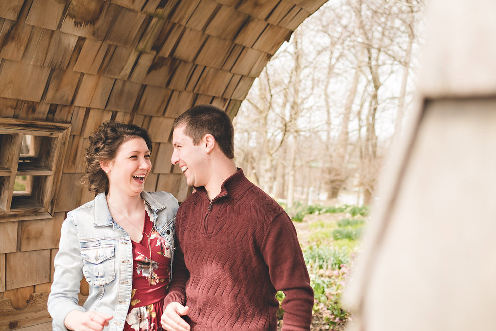 Sarah and Zakk's Indianapolis Art Center Engagement Session - www.RHatfieldPhotography.com