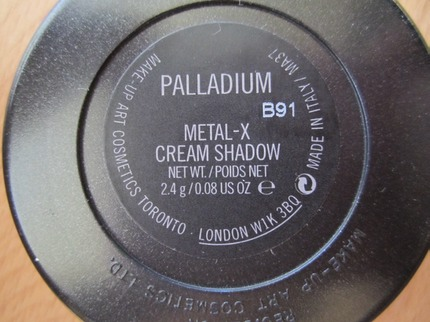 MAC Palladium label