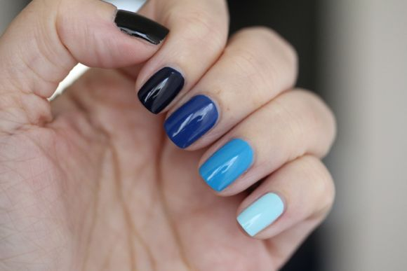 Ombre in blue