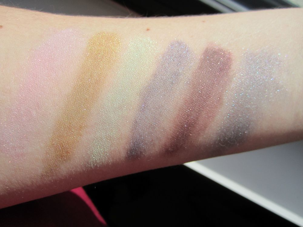 Swatches in direct sunlight