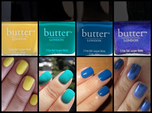 My favourite Butter London colours