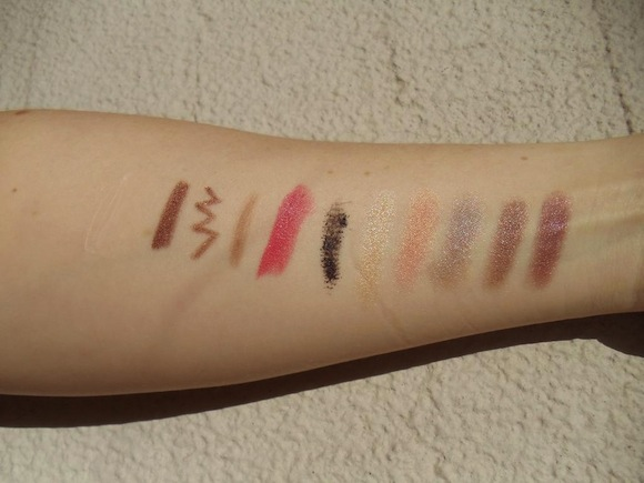 Australis swatches in direct sunlight