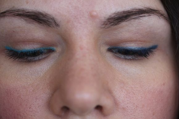 Wearing Essence's Tu-Tu-Turquoise (left) and Savvy by DB's Turquoise (right)