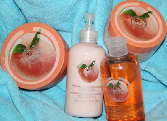 The Body Shop's Vineyard Peach range