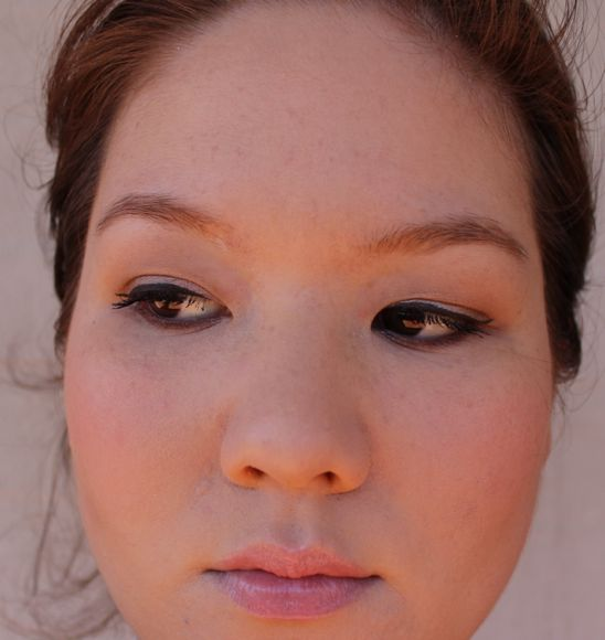 Wearing Face of Australia's Liquid Eyeliner in brown