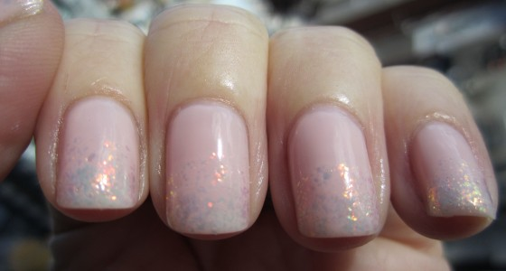 Essie Shine of the Times over Sheer Bliss