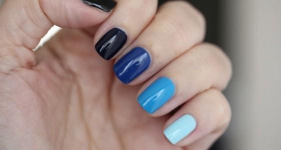 Blue Ombre manicure