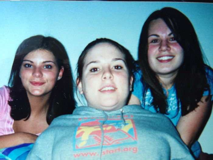 Sophomore year of college - from left to right: Diana, Kelly and me