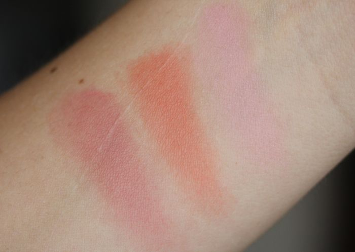 NARS Final Cut swatches from left to right: Love, Final Cut and Sex Fantasy