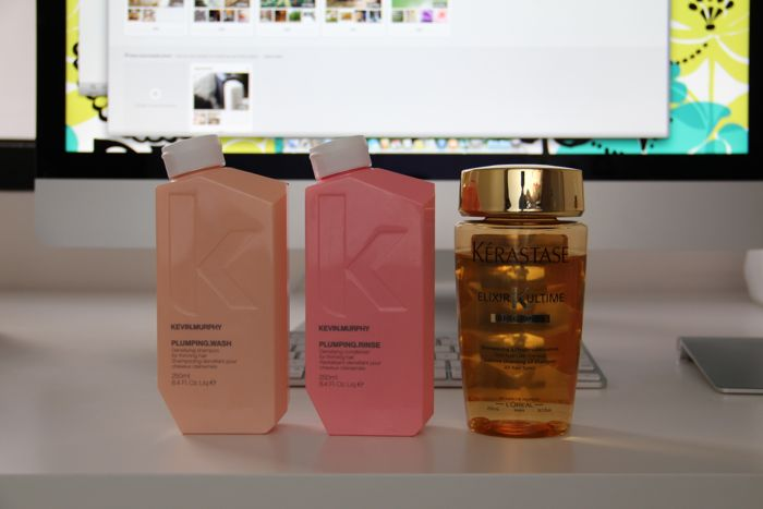 Kevin Murphy's Plumping Wash and Rinse and Kerastase's Elixir Ultime Sublime Cleansing Oil Shampoo