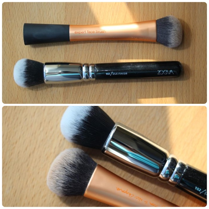 Silk Finish vs. Real Techniques Expert Face Brush