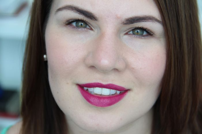 Wearing NARS Audacious Lipstick in Fanny