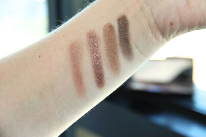 Swatches of Hourglass' Modernist Eyeshadow Palette in Infinity