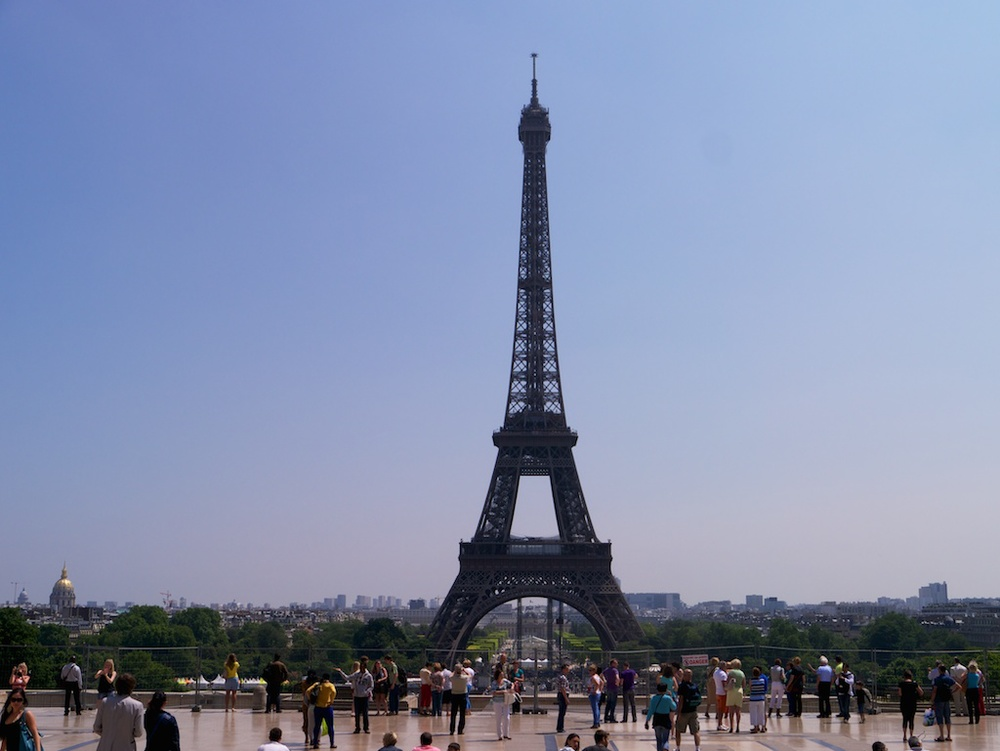 What trip to Paris would be complete without a shot of the Eiffel Tour.