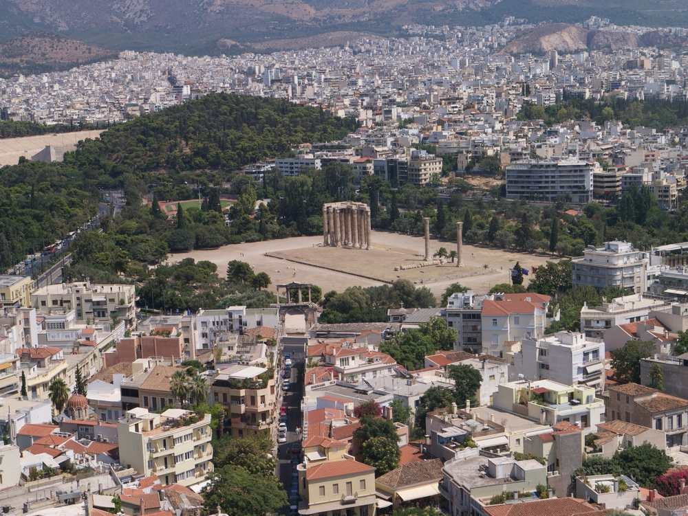 There are various ruins all over Athens (and under it - seriously, the metro stations are part museums in certain areas). This is the Temple of Zeus, Olympia.