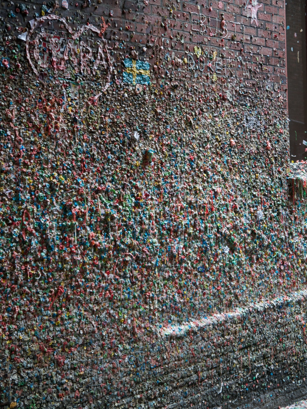 The famous 'gum wall'. Not going to lie - it's kind of gross.