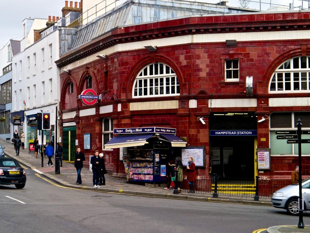 Hampstead Tube Station.