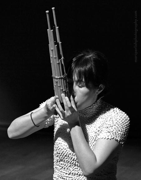 Naomi Sato performing Horizon Plus for Japanese Shô and Live Electronics.