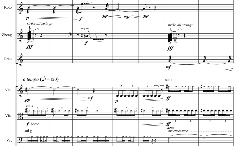 Click on image to see an excerpt of the score for Prisma.