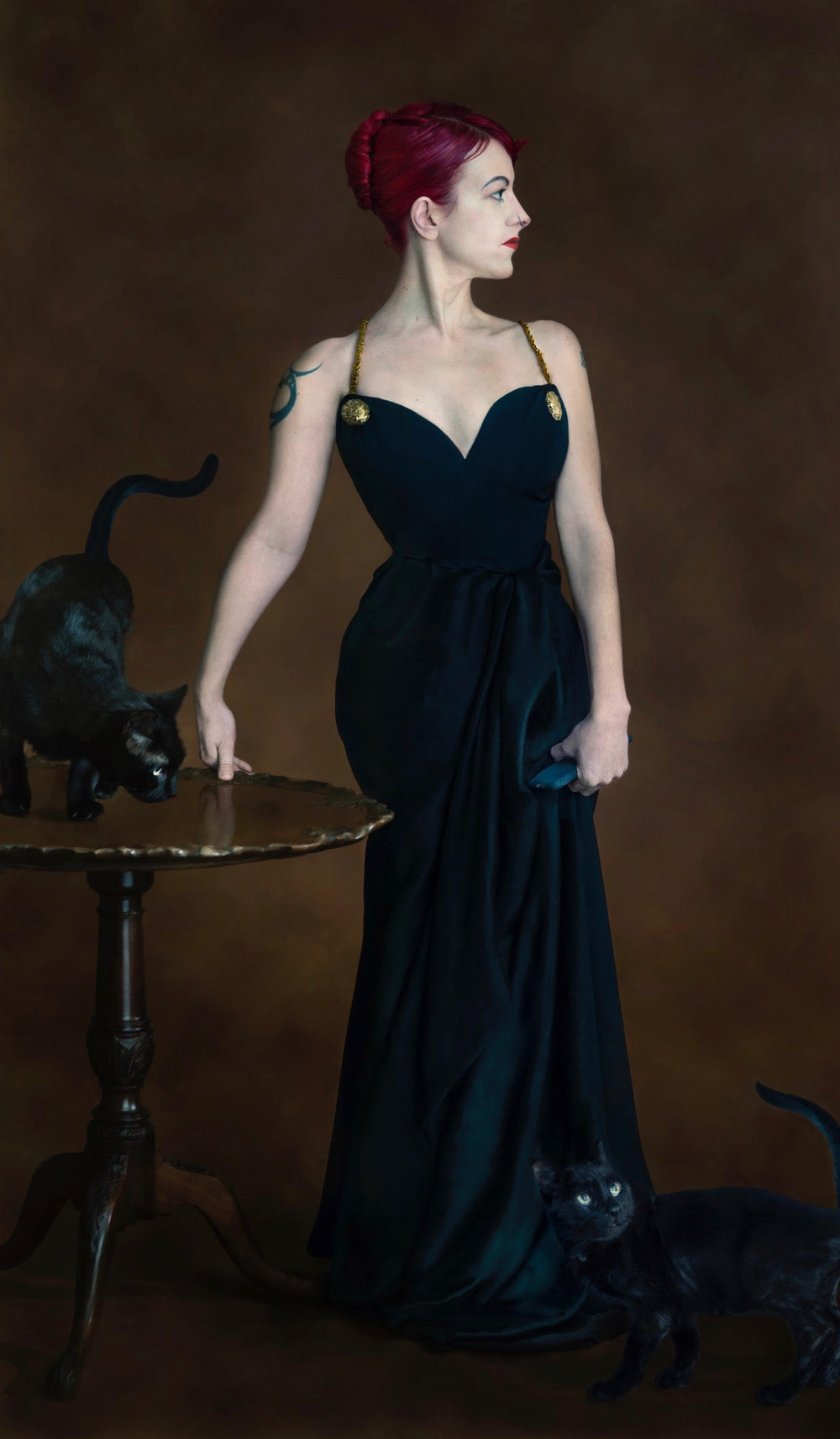 "Chrystyne as Madame X for the ""Cat Women"" series.  Photographer: Brooke Hummer"