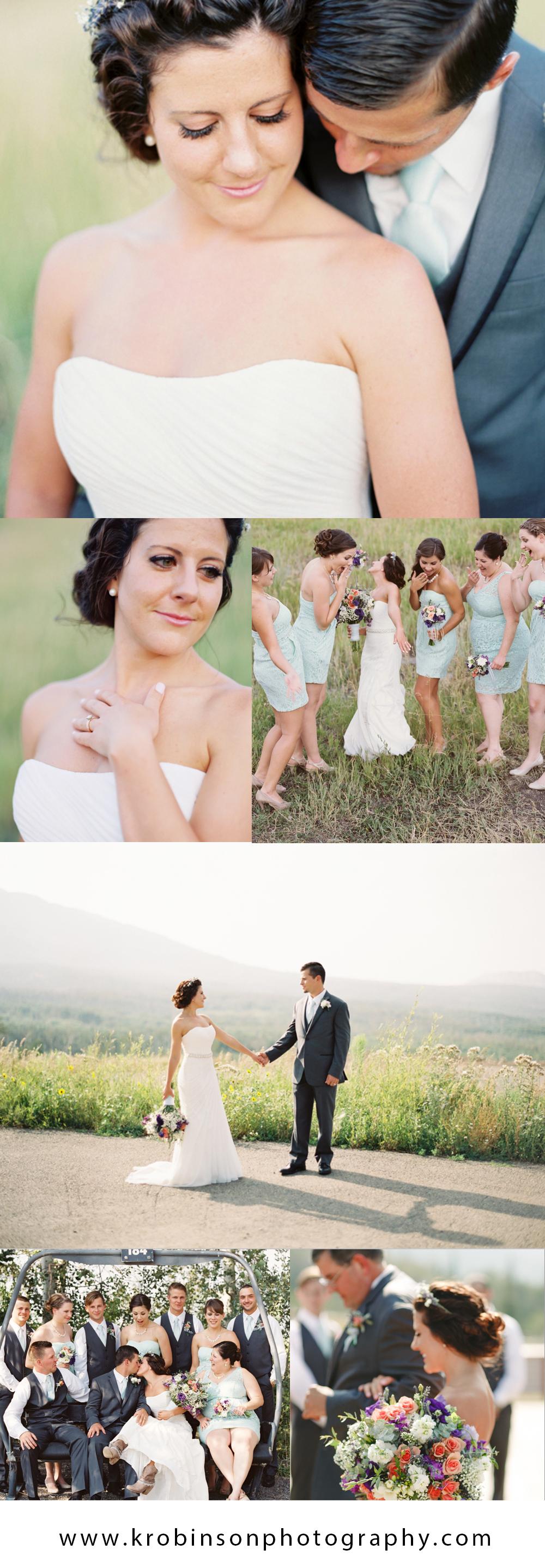 Venue - Powderhorn Mountain Resort, Florals - Flowers by Lorraine, Dress - David's Bridal, Lab - Photo Vision Prints, Groom - Men's Warehouse, Bridesmaids dresses - David's Bridal, MUAH - Tory Mangold, DJ - DJ Ryan Grizz, Coordinator, Morgan Barb