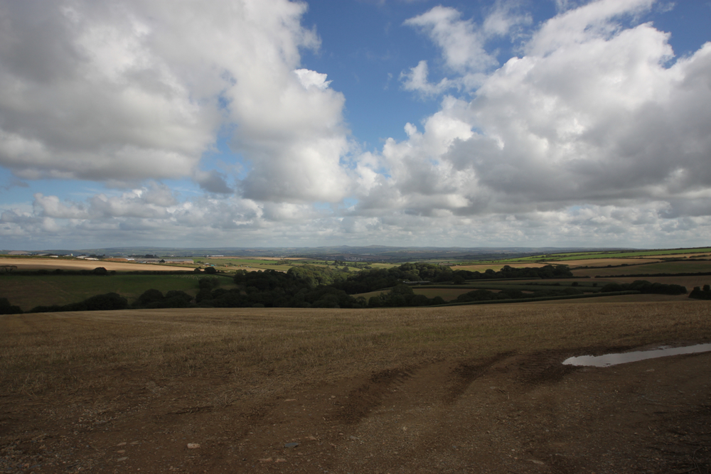 view from st breock downs