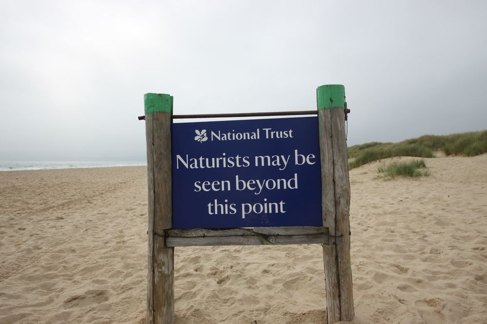 naturists warning