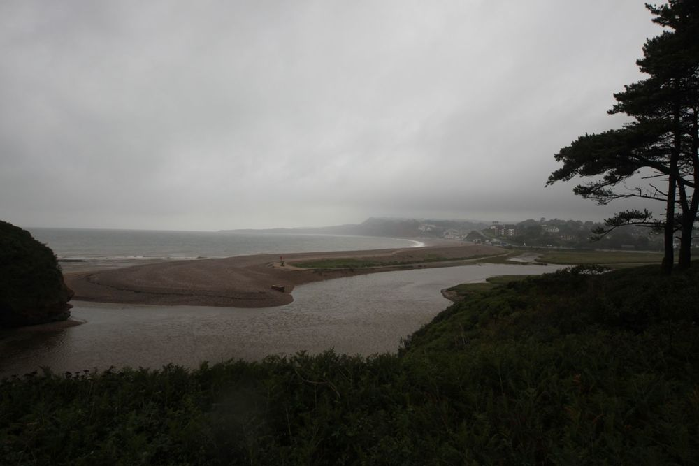 view back to budleigh salter ton
