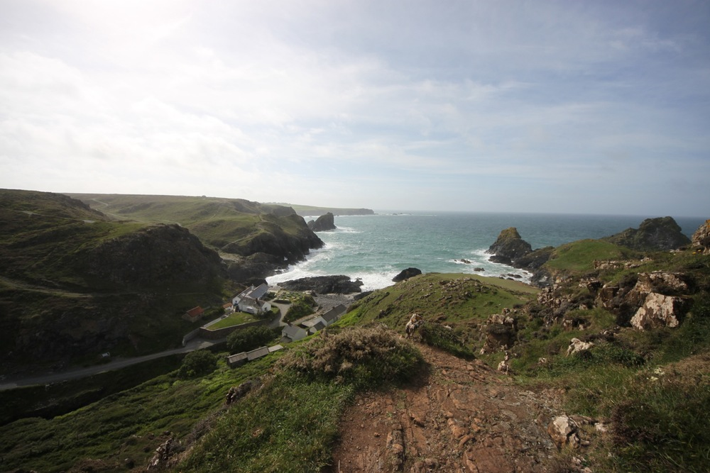 view over kynance cove
