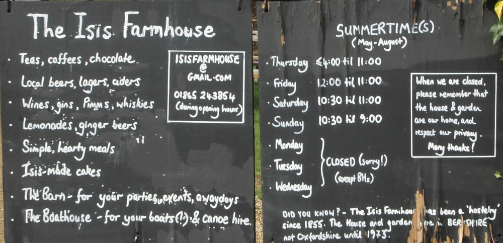 isis farmhouse opening hours