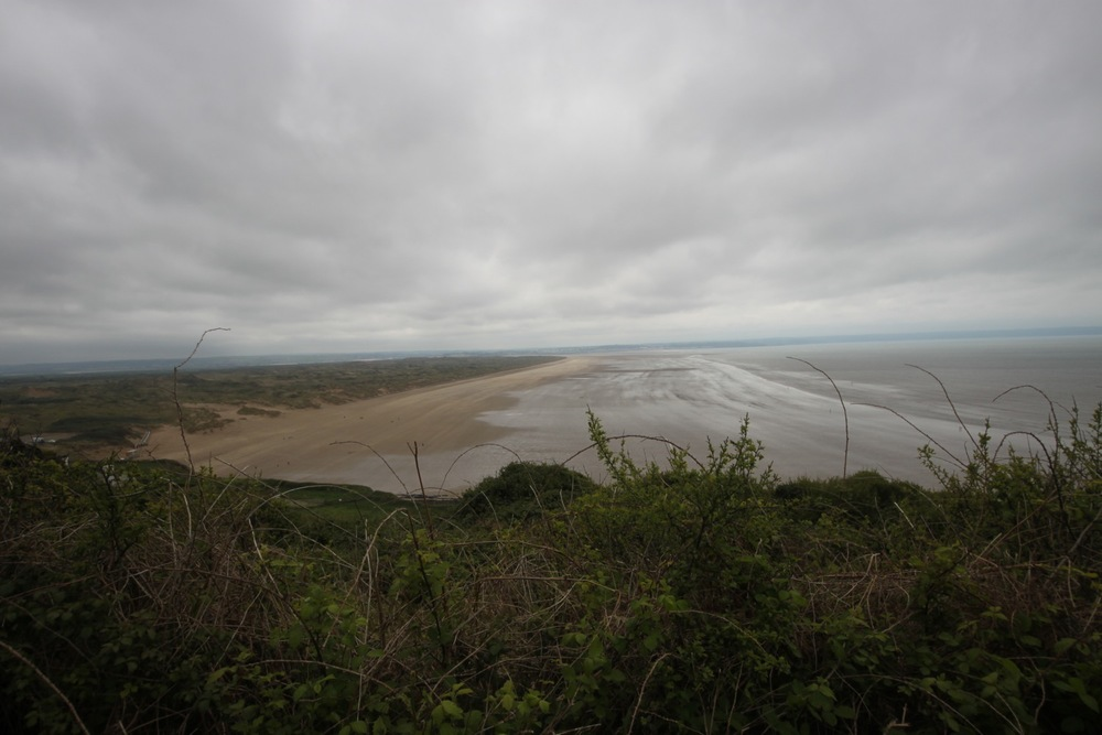 view over saunton sands