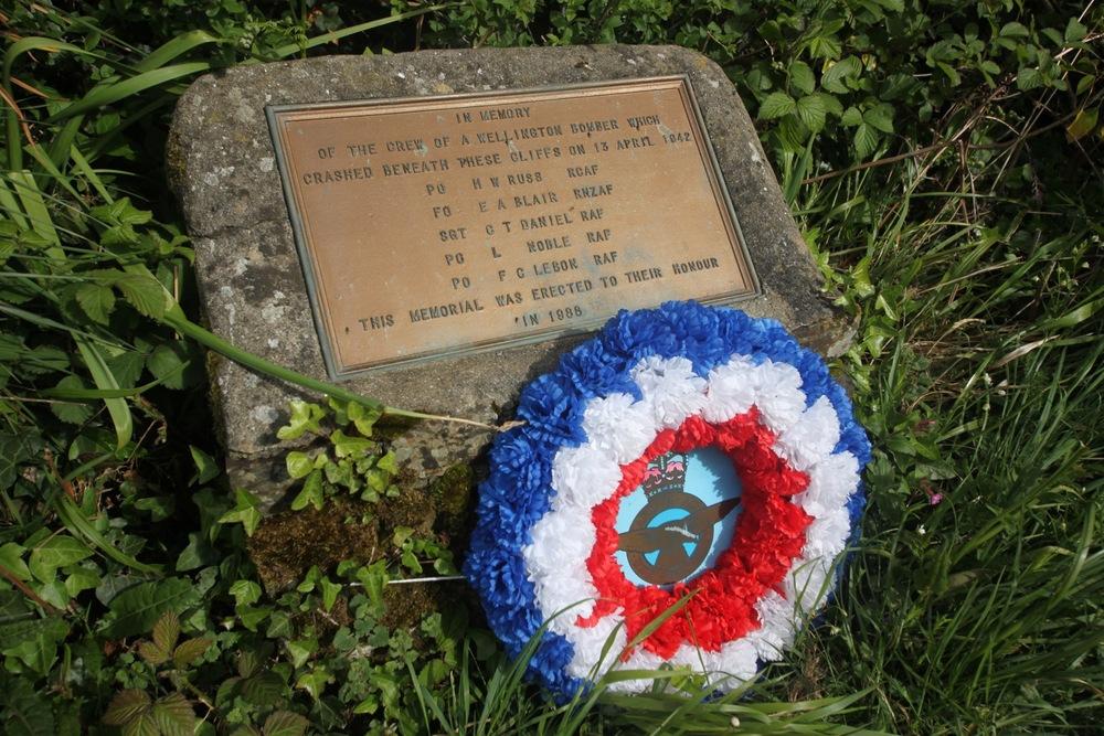 wellington bomber memorial plaque