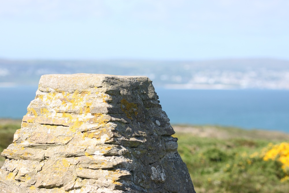trig point overlooking st ives