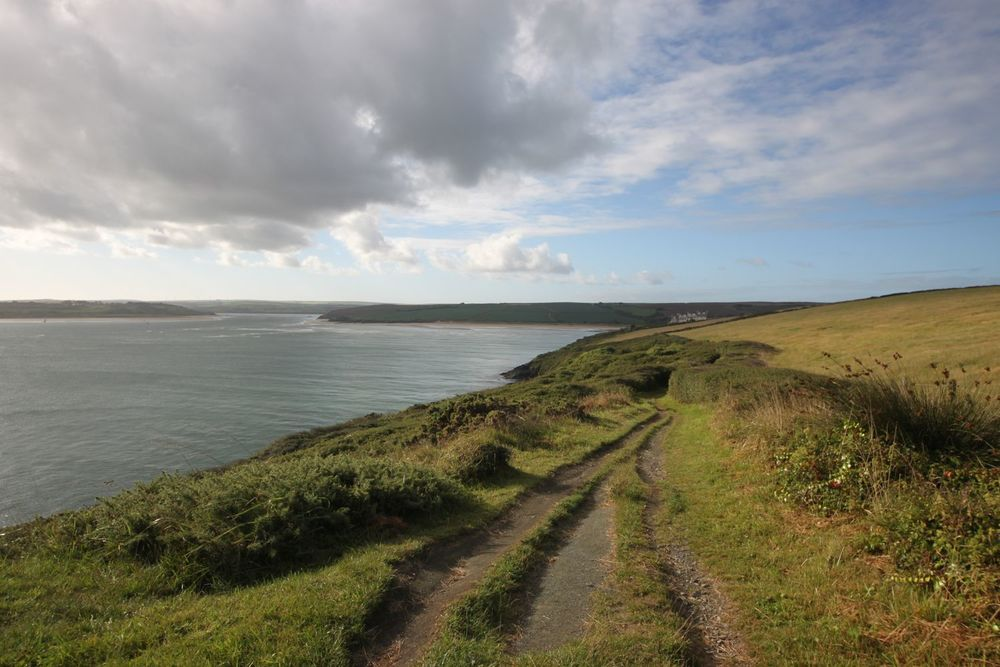 view back over the camel estuary