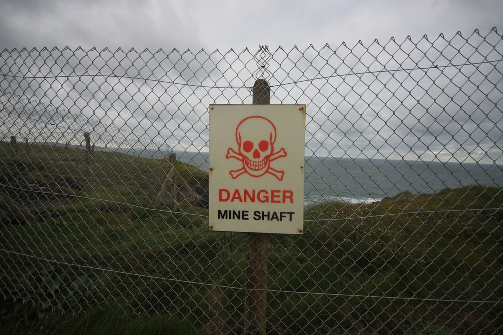 danger mine shaft