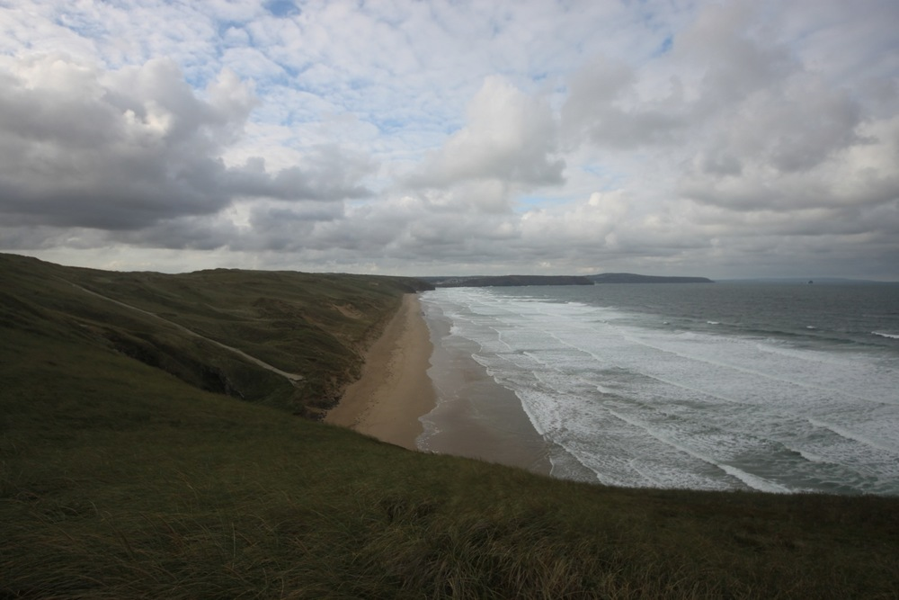 overlooking penhale sands