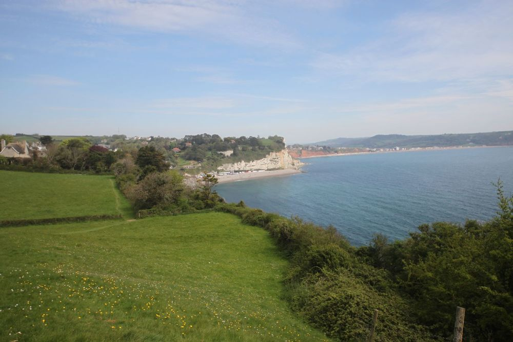 view over beer and seaton