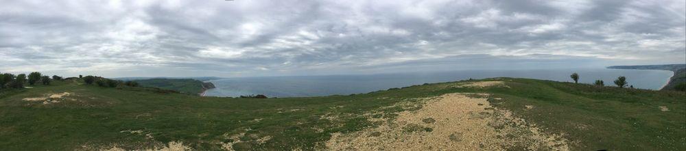 panorama from golden cap